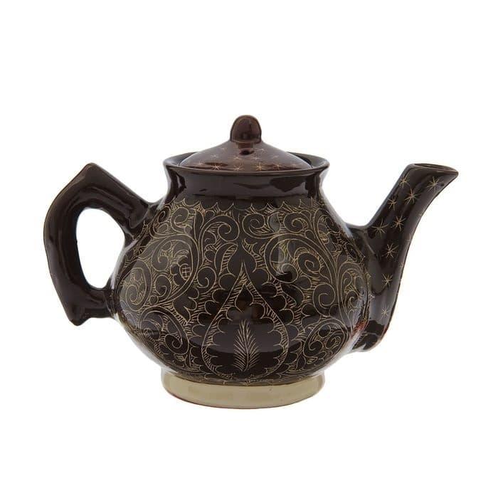 Чайник заварочный Риштанская Керамика 2 л. коричневый - фото 7484