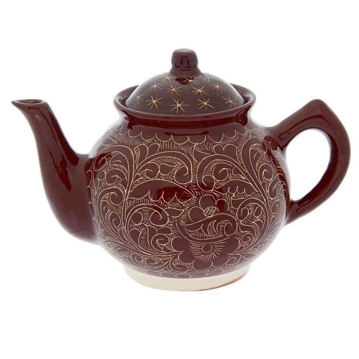 Чайник заварочный Риштанская Керамика 2 л. коричневый - фото 7485