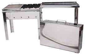 Мангал чемодан Старый Очаг нержавеющая сталь 500х300х500мм. 2 мм. с решеткой гриль