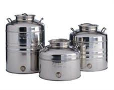 Традиционная бочка с краном на 75 литров из нержавеющей стали Sansone