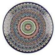 Ляган Риштанская Керамика 46 см. плоский, синий