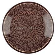 Ляган Риштанская Керамика 32 см. плоский, коричневый