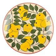 Ляган Риштанская Керамика 38 см. плоский, желтое яблоко