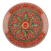 Ляган Риштанская Керамика 38 см. плоский, Qora galam