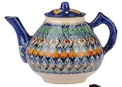 Чайник заварочный Риштанская Керамика 2 л. синий