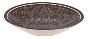 Тарелка плоская Риштанская Керамика 17 см. коричневая