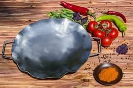 Садж сковорода без подставки, нержавеющая сталь, 35 см.