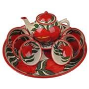 Набор чайный Риштанская Керамика, 9 предметов, Гранат